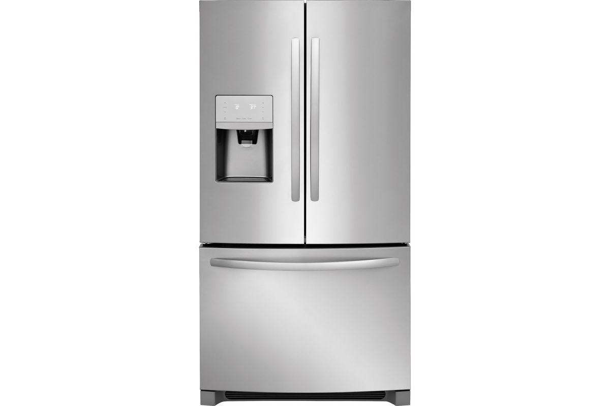 Frigidaire 21.9 Cu. Ft. French Door Counter-Depth Refrigerator - Stainless Steel from Gardner-White Furniture
