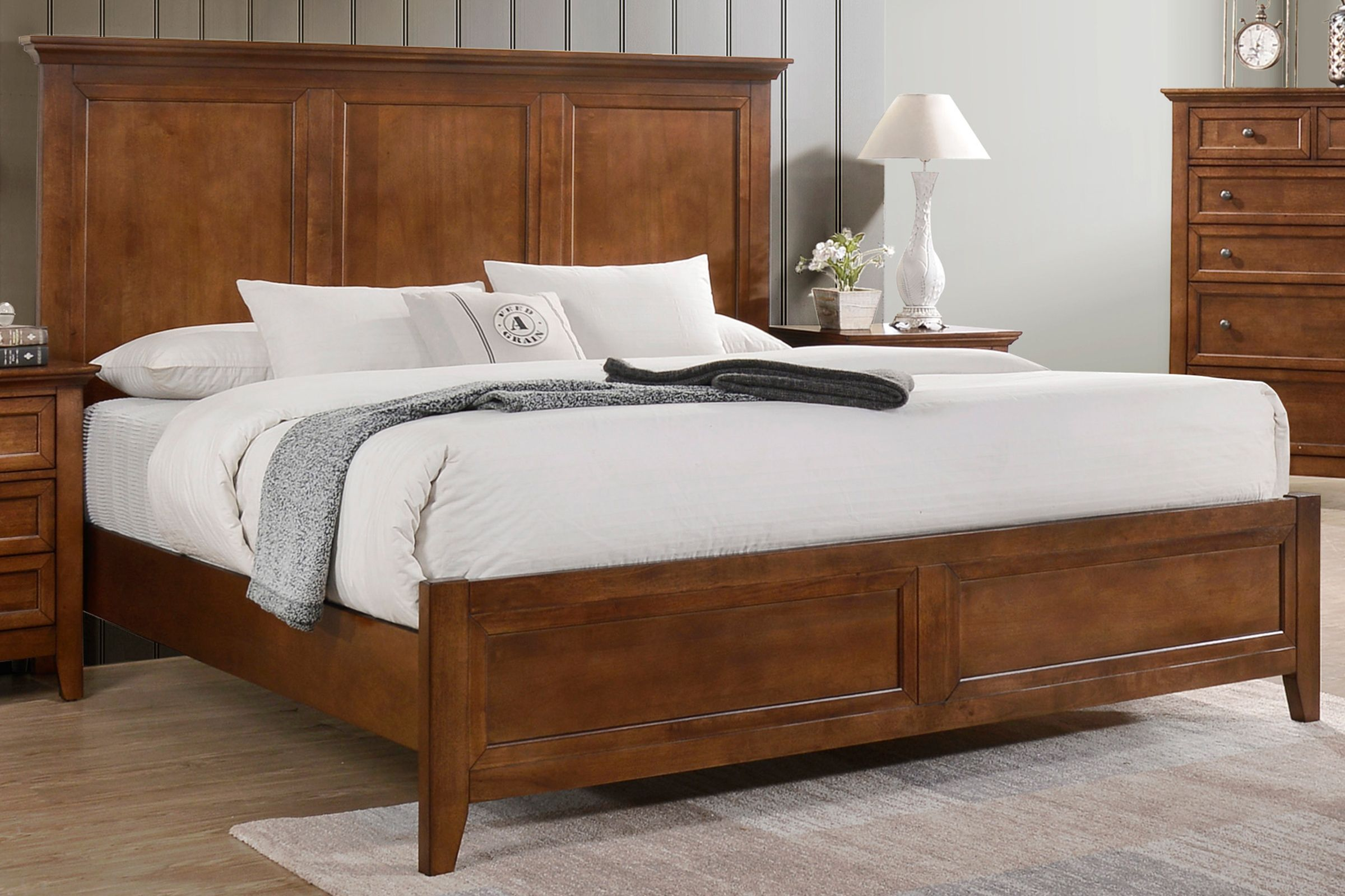 San Mateo 5 Piece Solid Wood King Bedroom Set At Gardner White
