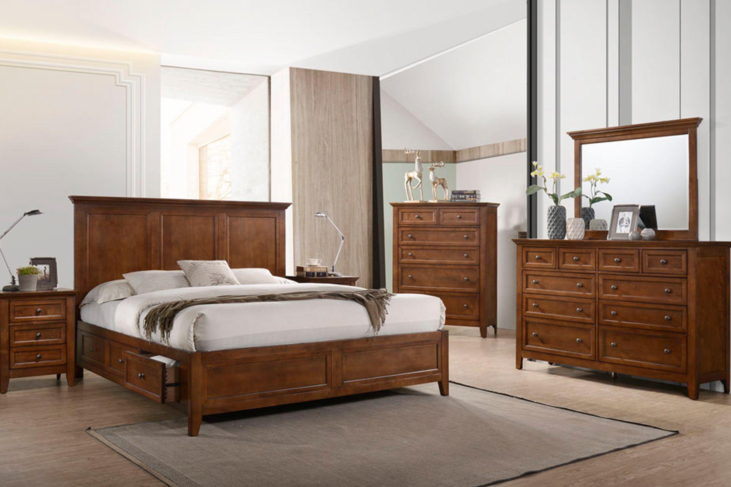 San Mateo 3-Piece Solid Wood King Storage Bedroom Set