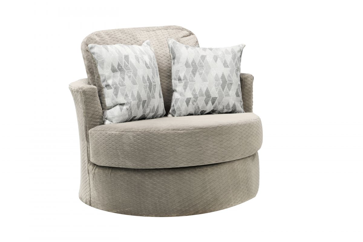 Oyster Swivel Barrel Chair from Gardner-White Furniture