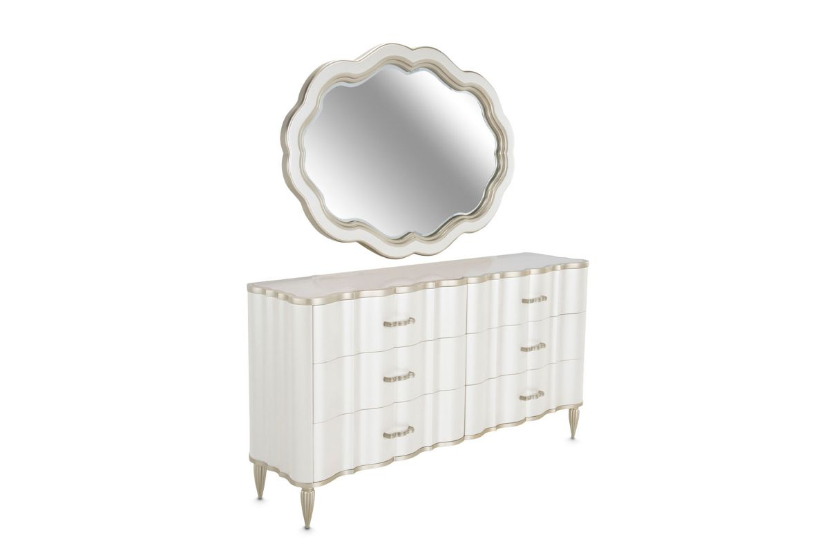London Dresser with Mirror by Michael Amini x Jane Seymour Living from Gardner-White Furniture