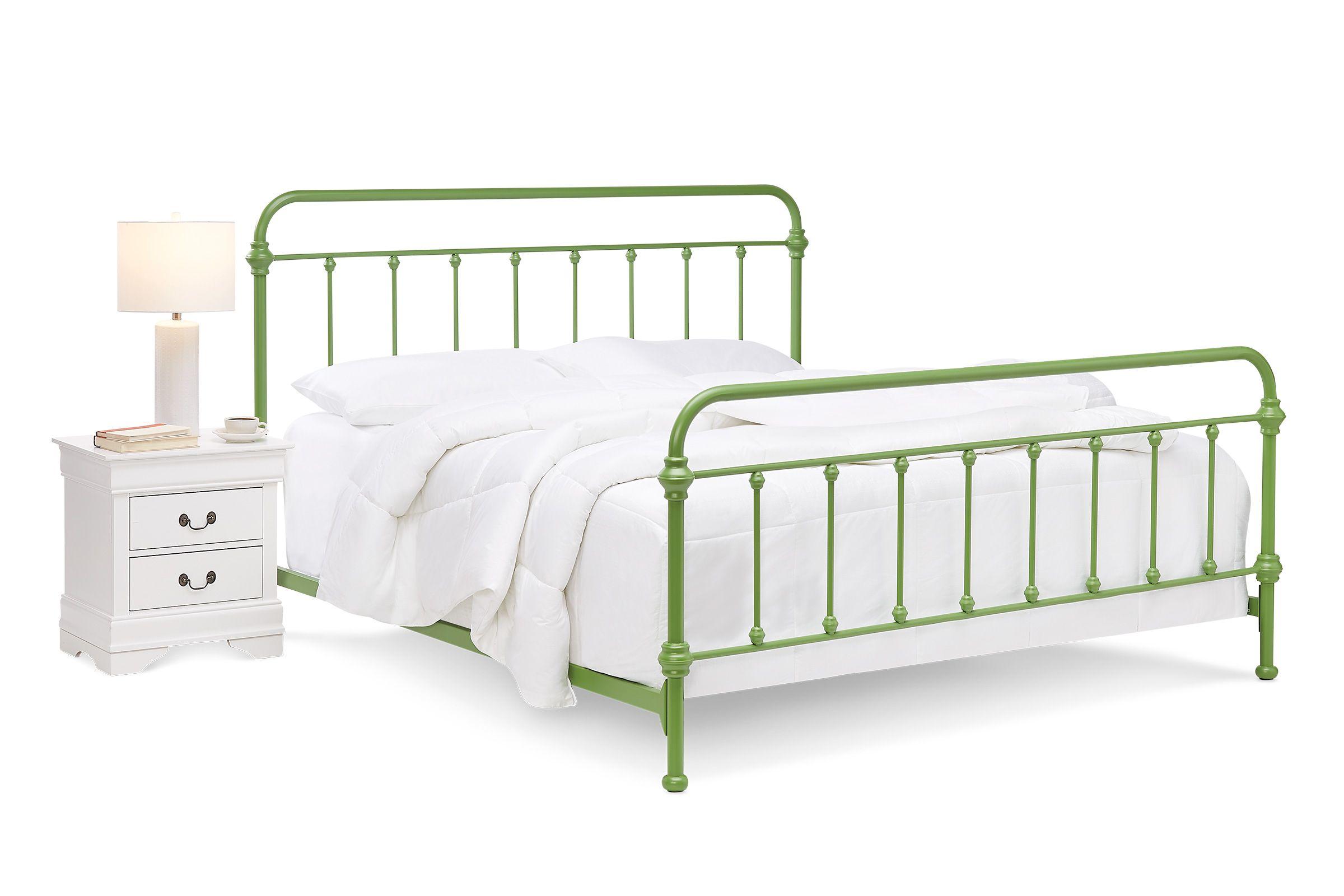 Green Metal King Bed At Gardner White