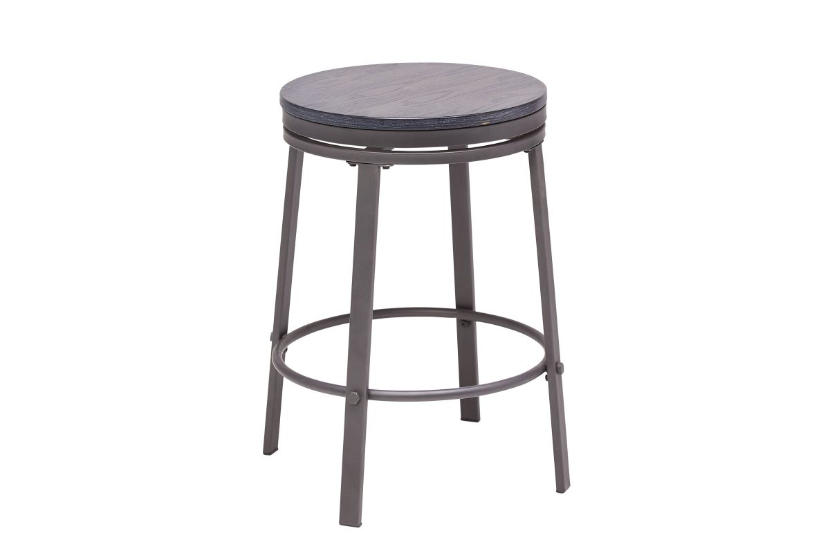 Portland Round Counterheight Swivel Stool from Gardner-White Furniture