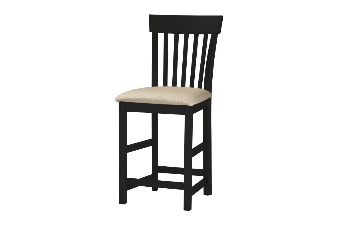 Anni Solid Maple with Auburn Finish Upholstered Rake Back Stool by Gascho from Gardner-White Furniture