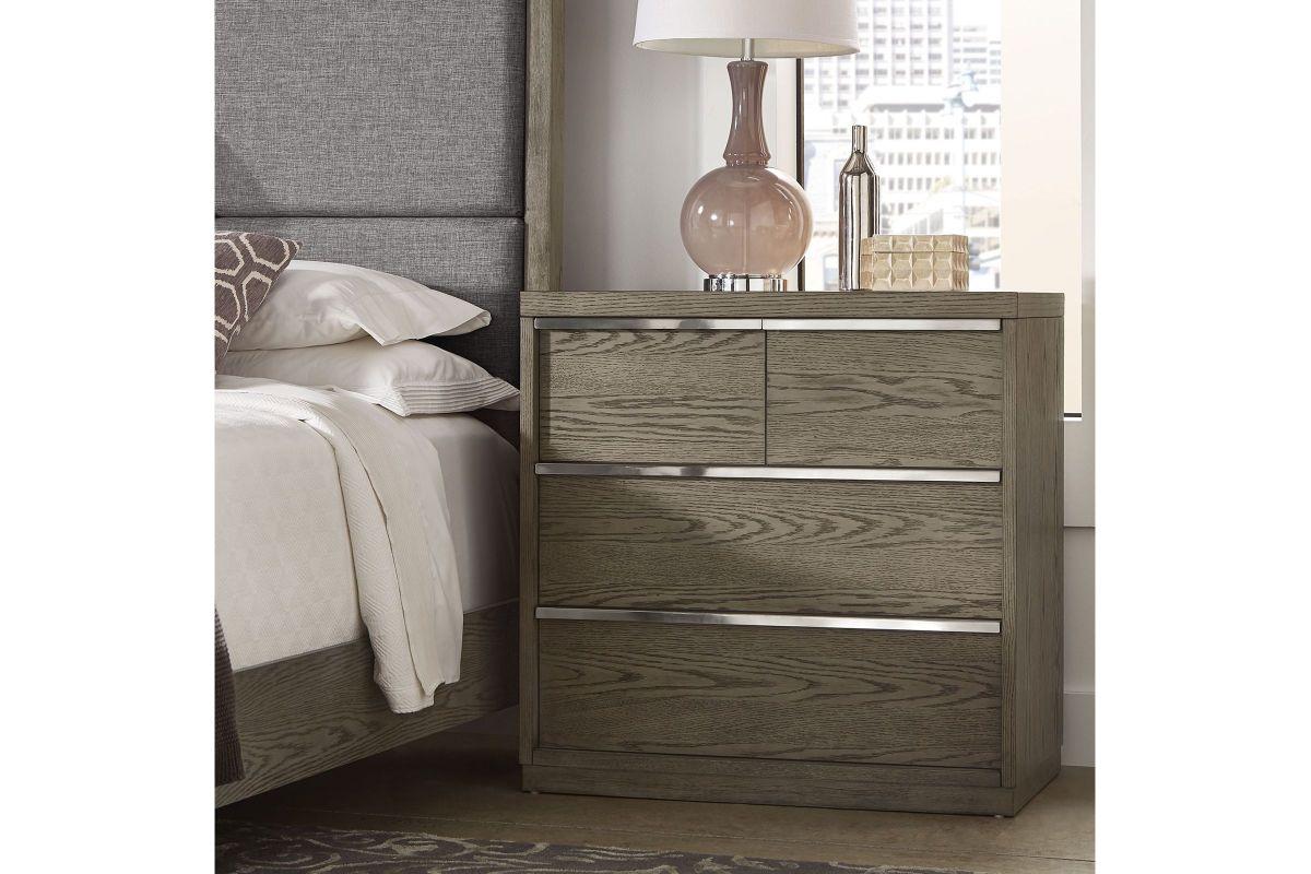 Antique Grey Oak Nightstand from Gardner-White Furniture