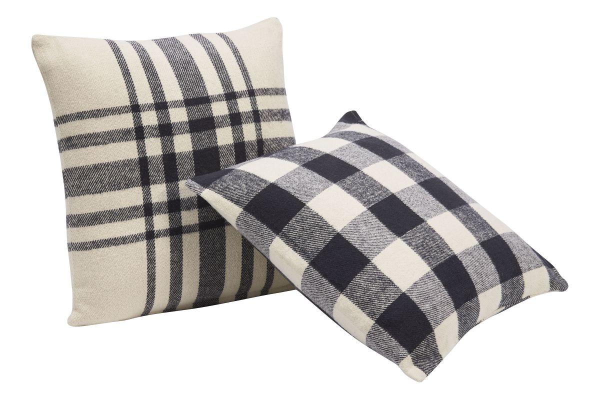 Black & White Plaid Pillows from Gardner-White Furniture