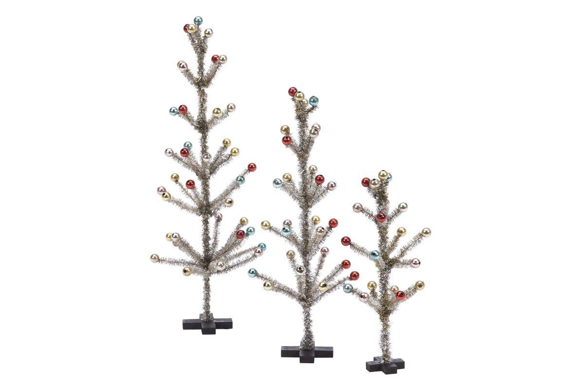 Vintage Tinsel Trees - Set of 3 from Gardner-White Furniture