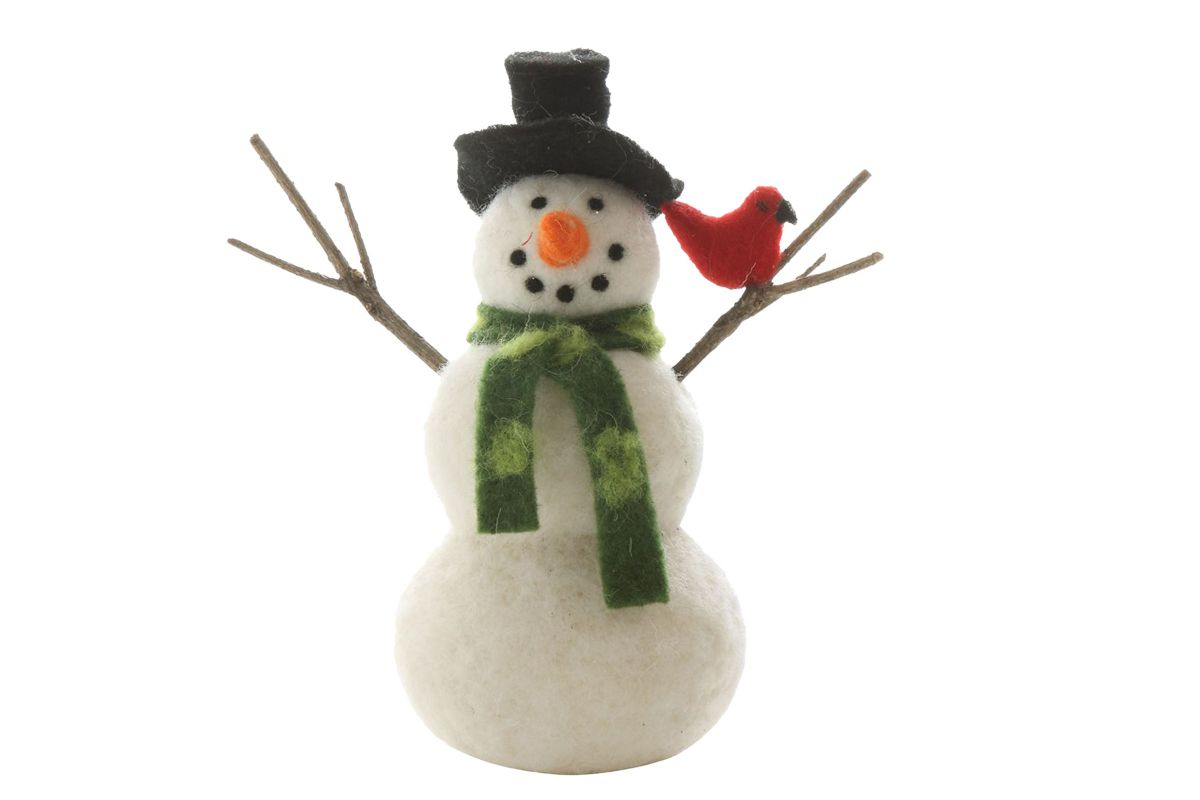 Wool Felt Snowman from Gardner-White Furniture