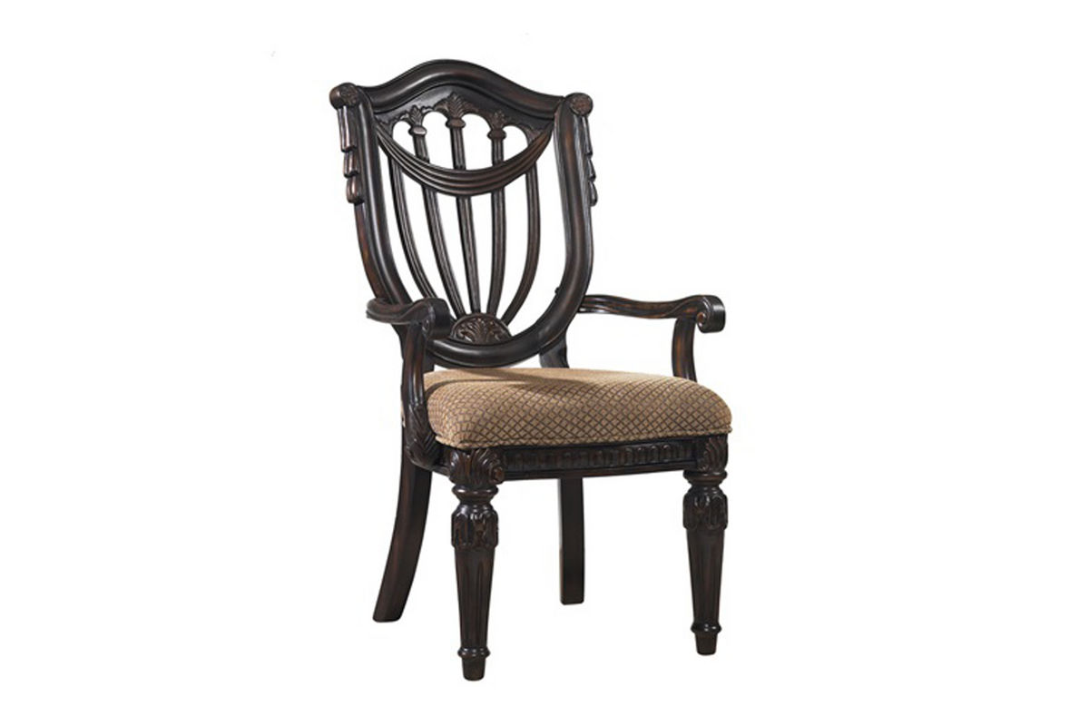Cabernet Wood Arm Chair from Gardner-White Furniture