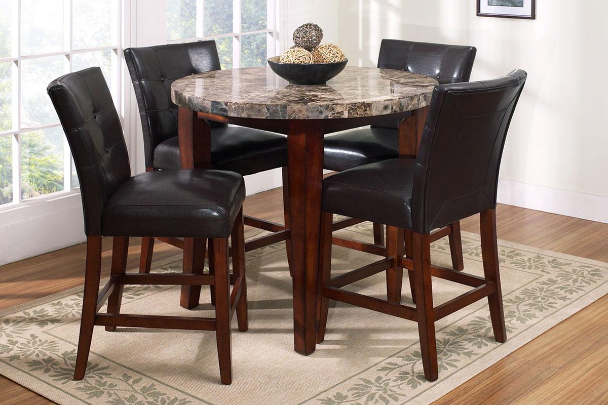 Montibello Round Pub Table + 4 Stools from Gardner-White Furniture