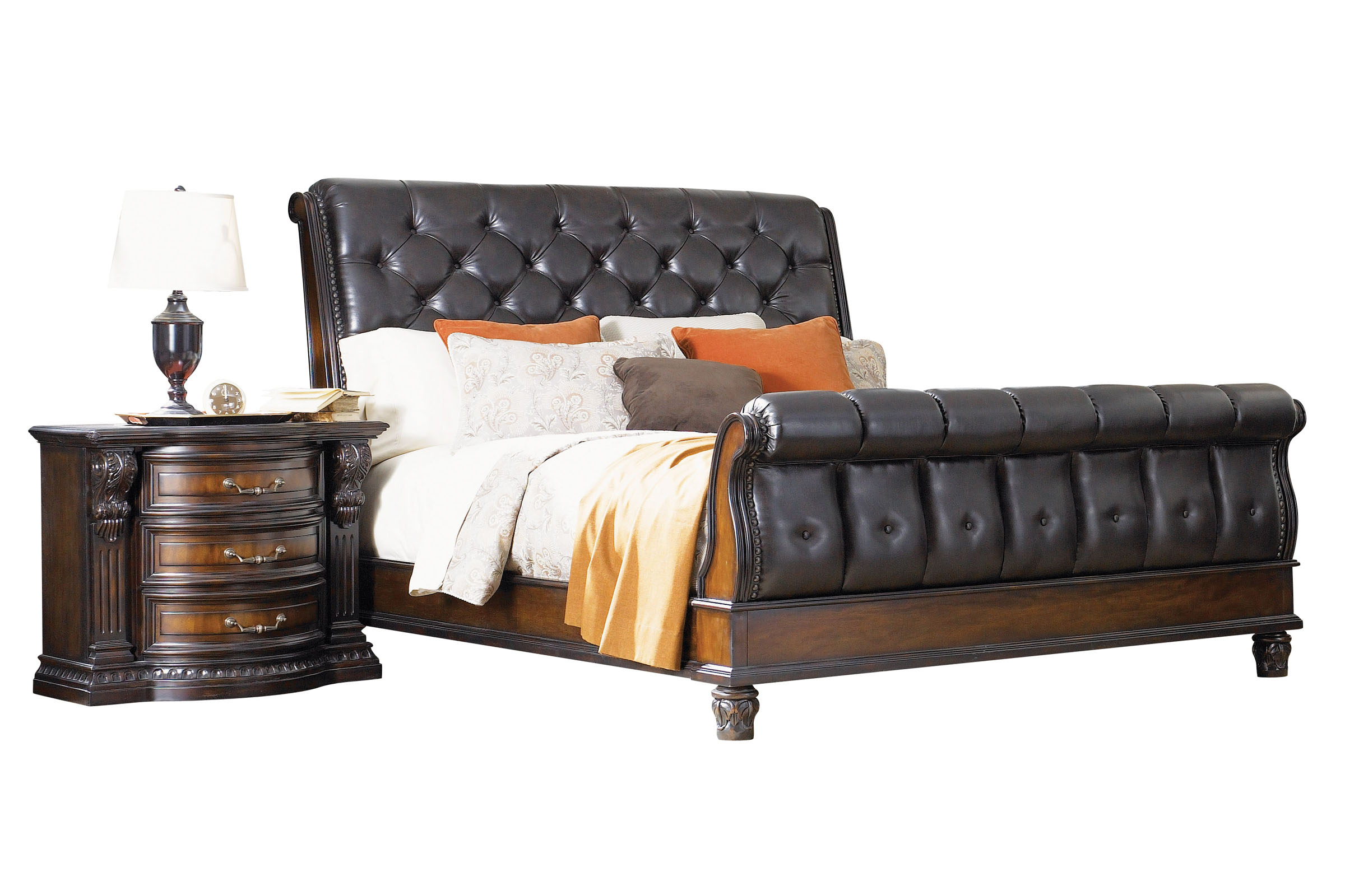 Picture of: Cabernet King Sleigh Bed At Gardner White