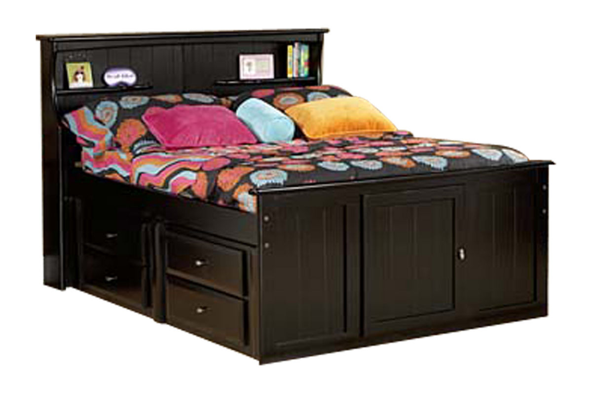 Laguna Black Twin Bookcase Bed from Gardner-White Furniture