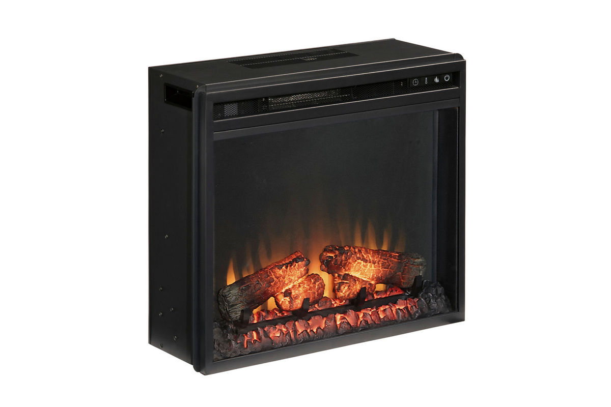 Vinasville Black Electric Fireplace Insert by Ashley from Gardner-White Furniture