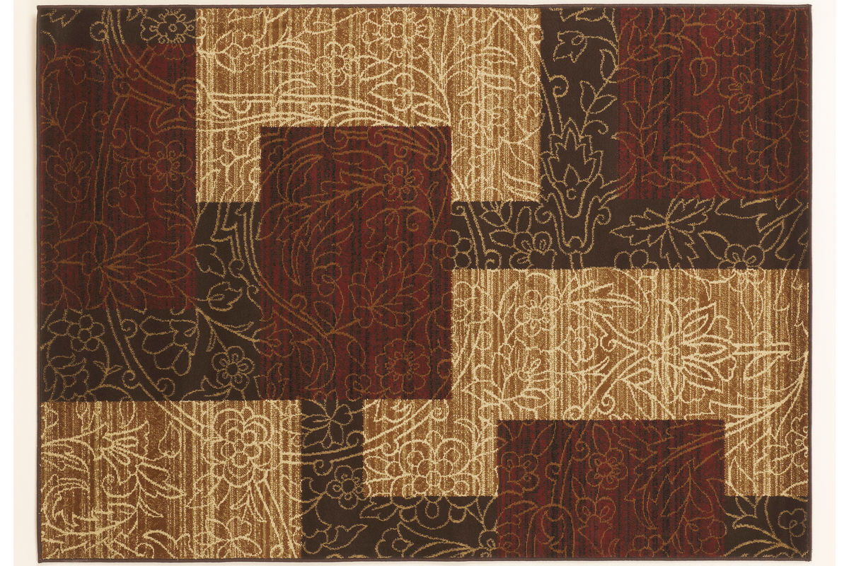 Rosemont Medium Rug in Red/Brown/Gold by Ashley from Gardner-White Furniture