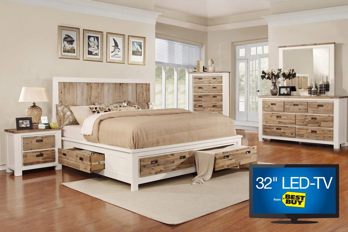 Western Queen Storage Bedroom Set with 32