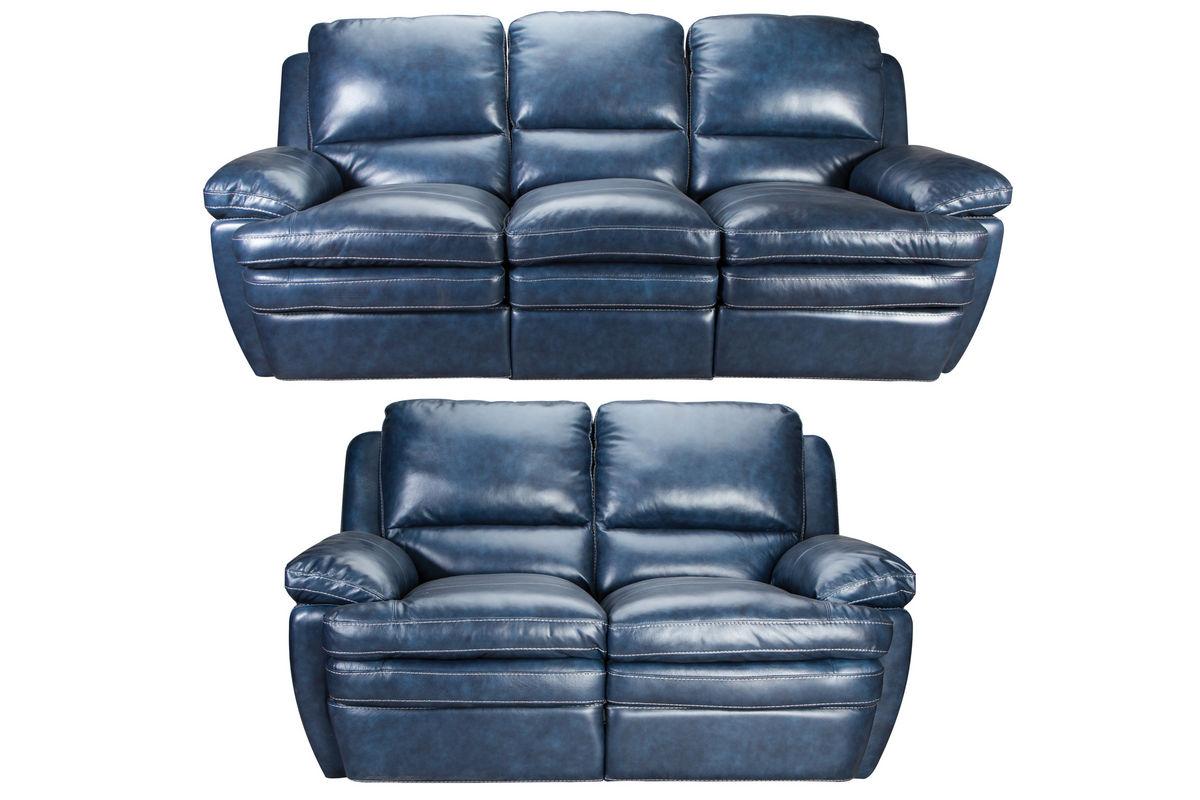 Mazarine Power Reclining Leather Sofa Loveseat At Gardner White
