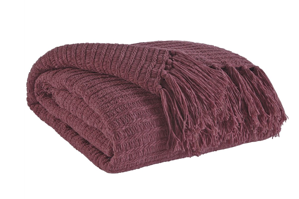 Santino Throw in Berry by Ashley from Gardner-White Furniture