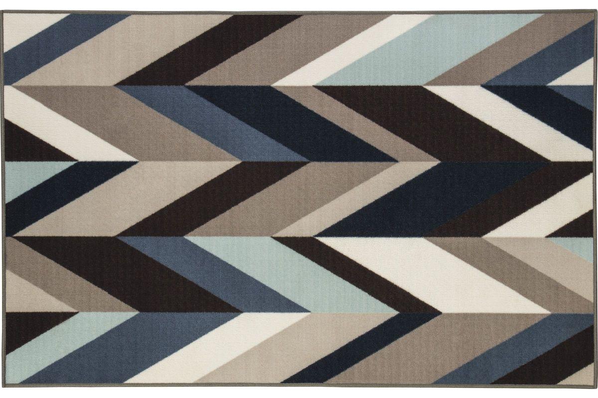 Keelia Medium Rug in Blue/Brown/Grey by Ashley from Gardner-White Furniture