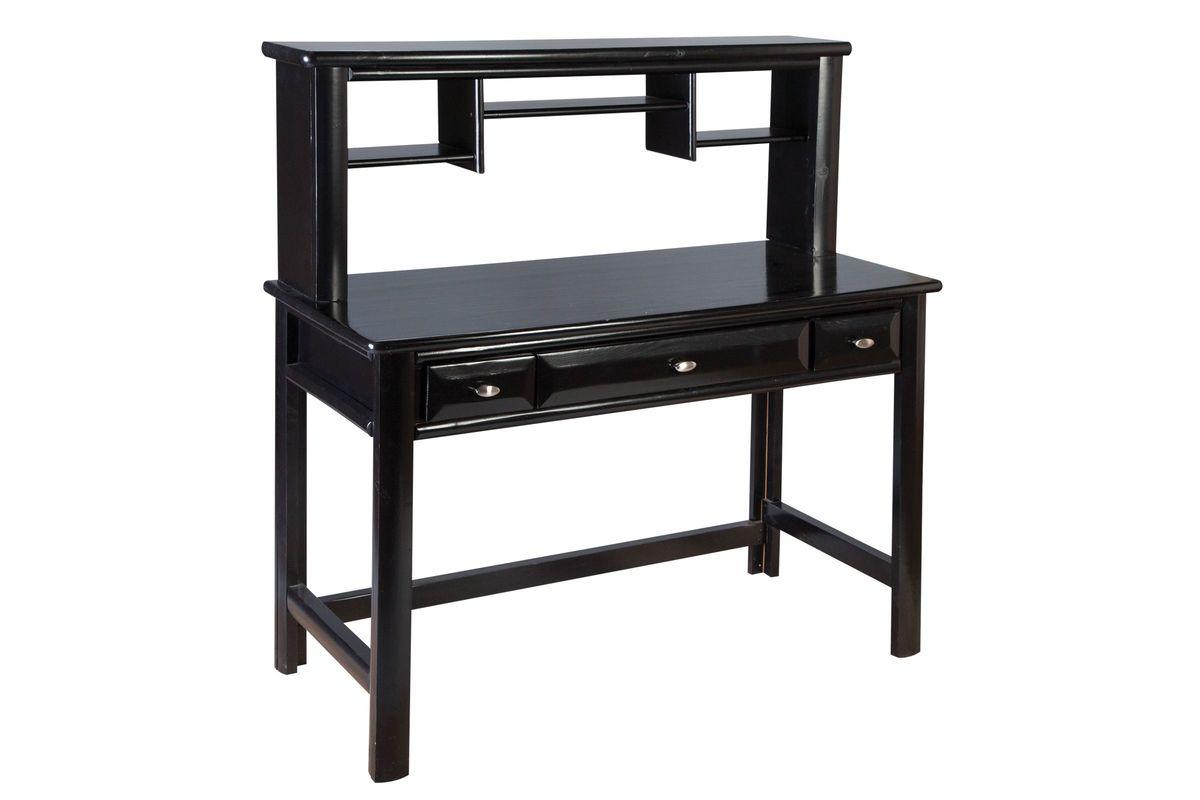 Laguna Black Desk + Hutch from Gardner-White Furniture