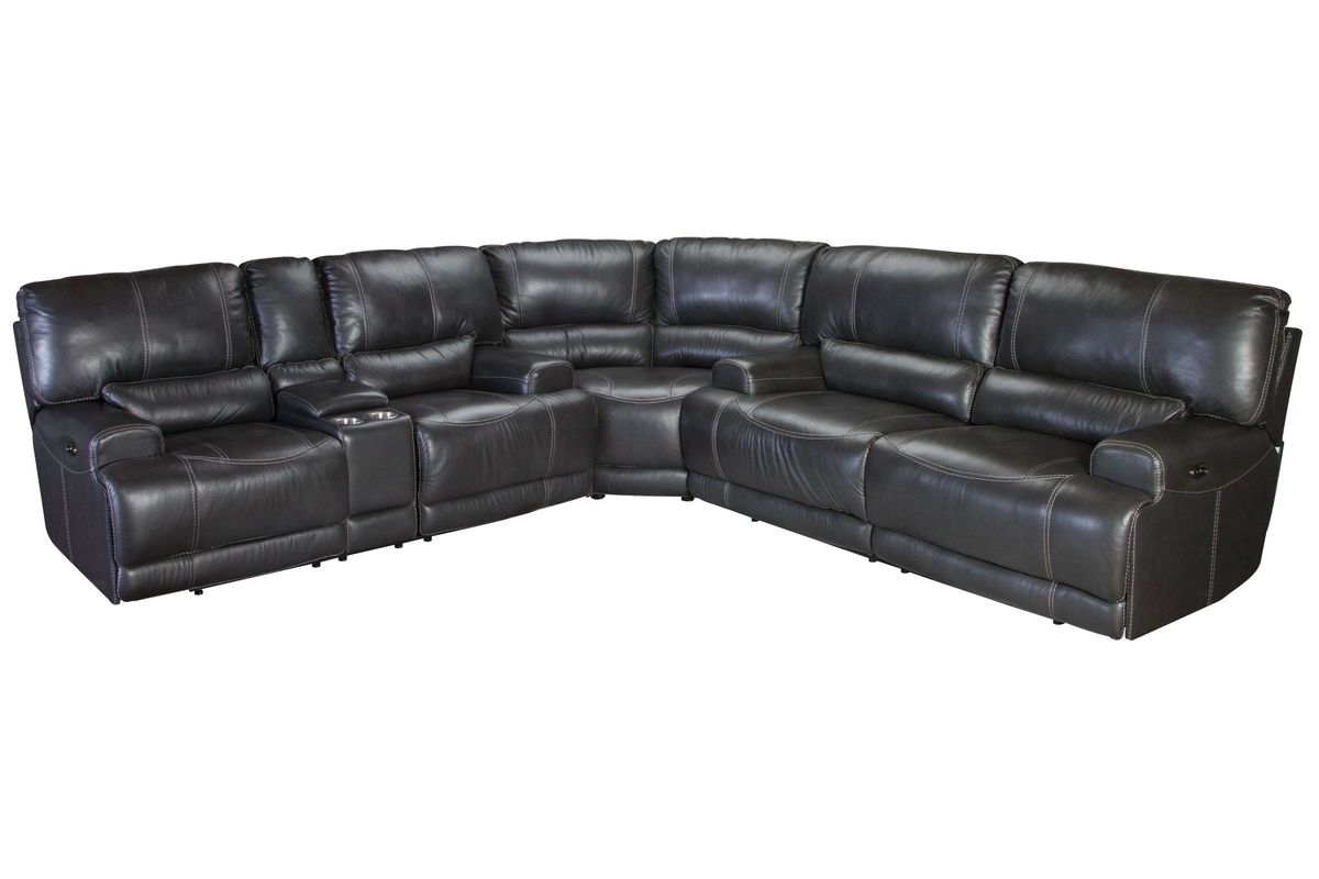 Cannon Leather Power Reclining Sectional from Gardner-White Furniture