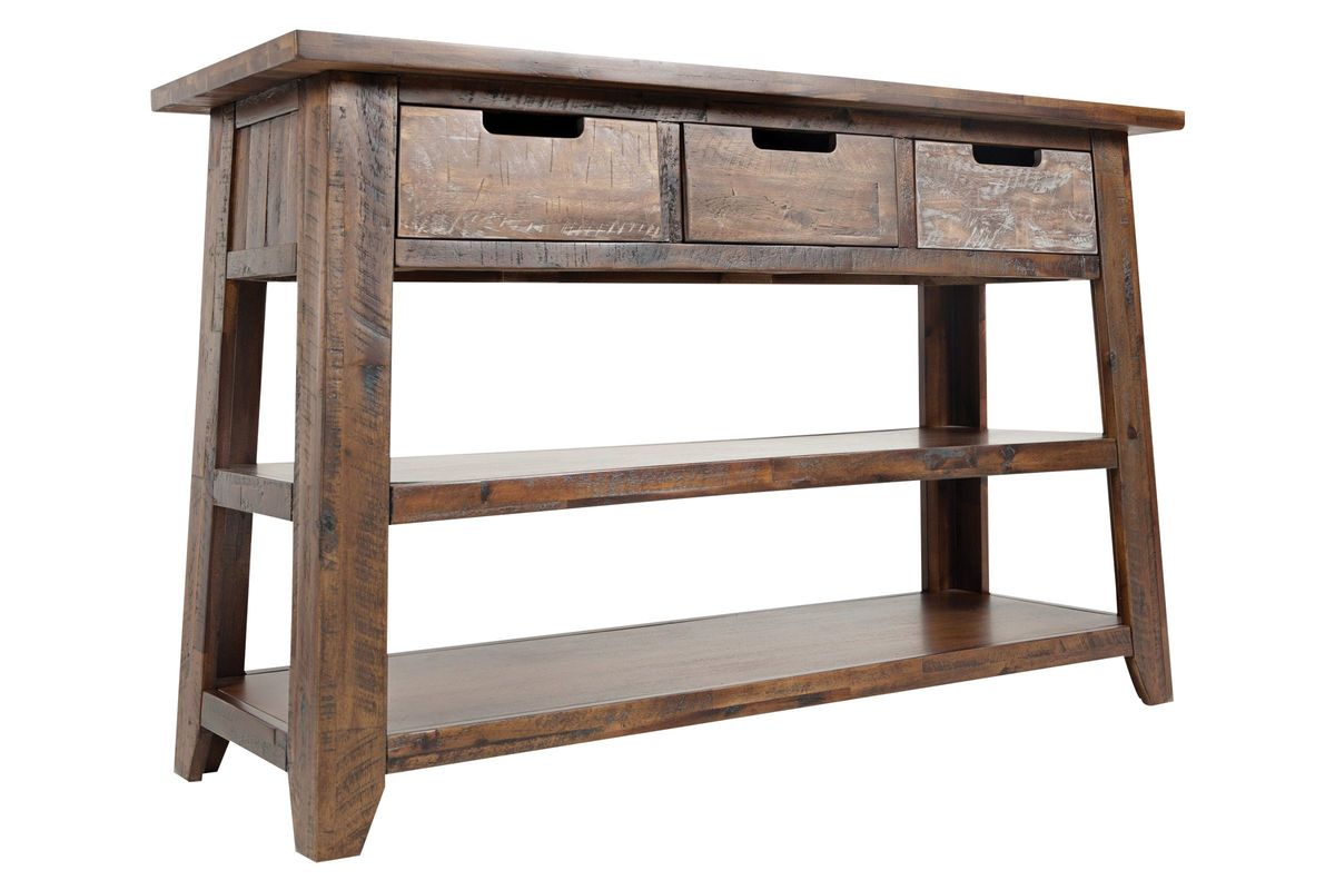 Castered Sofa Table with 3 Drawers from Gardner-White Furniture