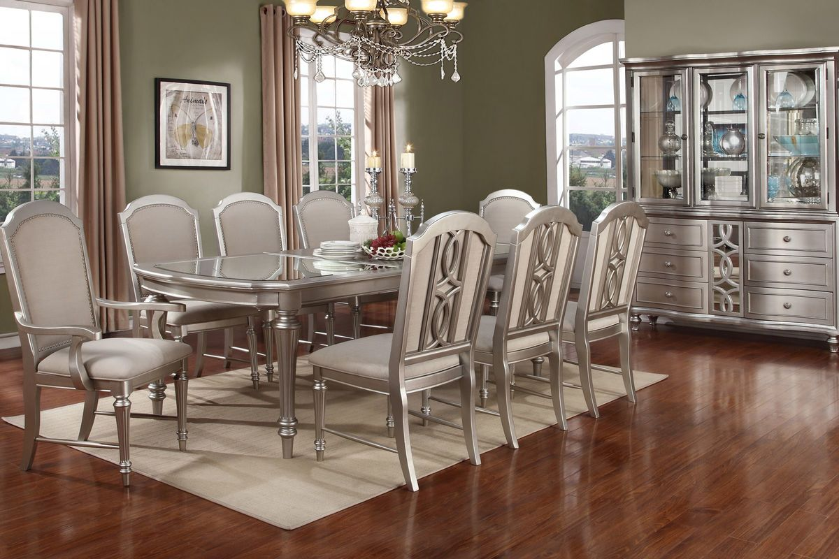 Colleen Dining Table + 4 Dining Chairs + 2 Arm Chairs from Gardner-White Furniture