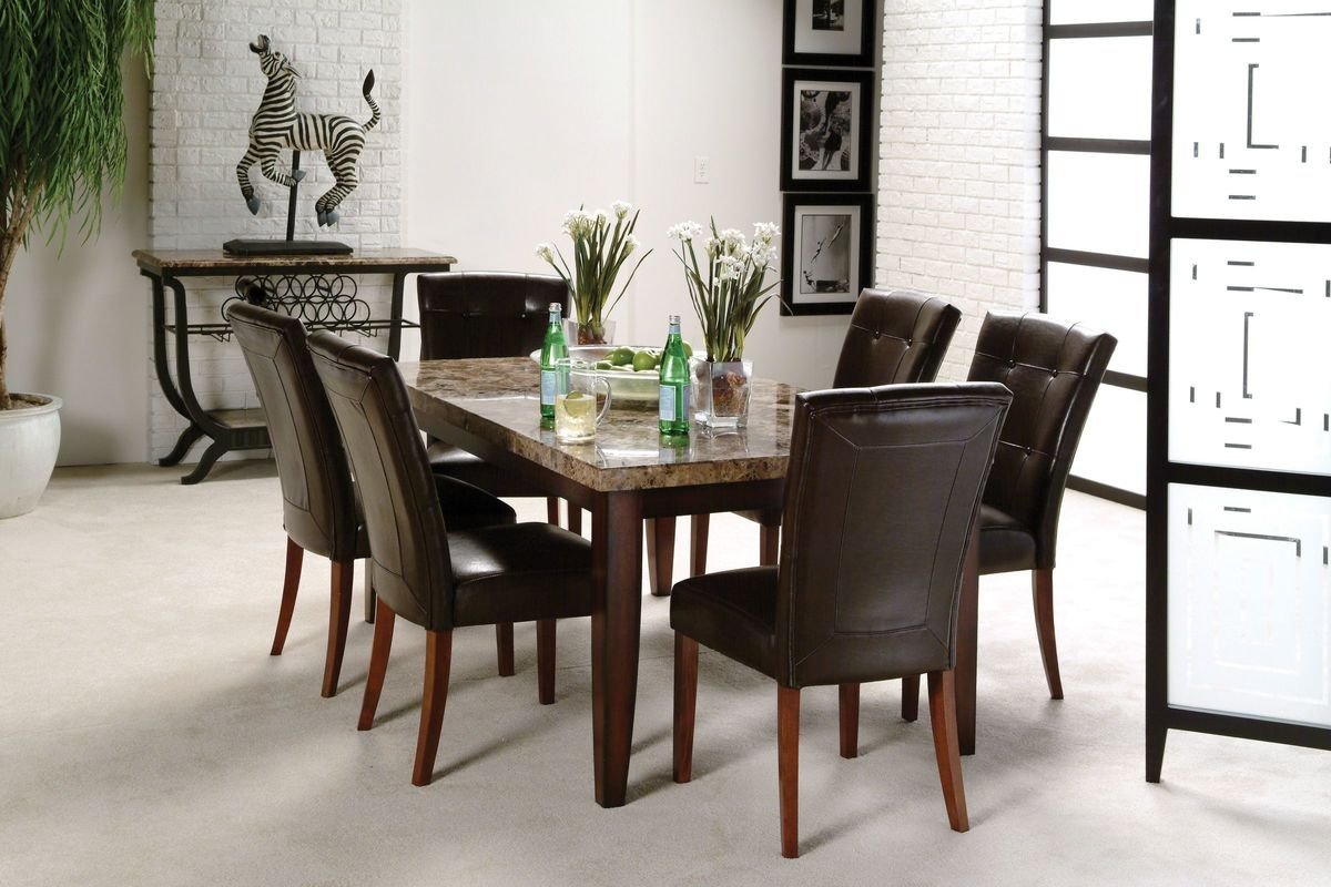 Montibello Dining Table + 6 Chairs from Gardner-White Furniture
