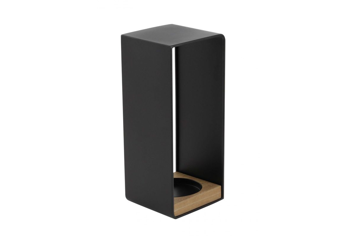 Picture of: Modern Reflections Large Rectangular Candle Holder In Black
