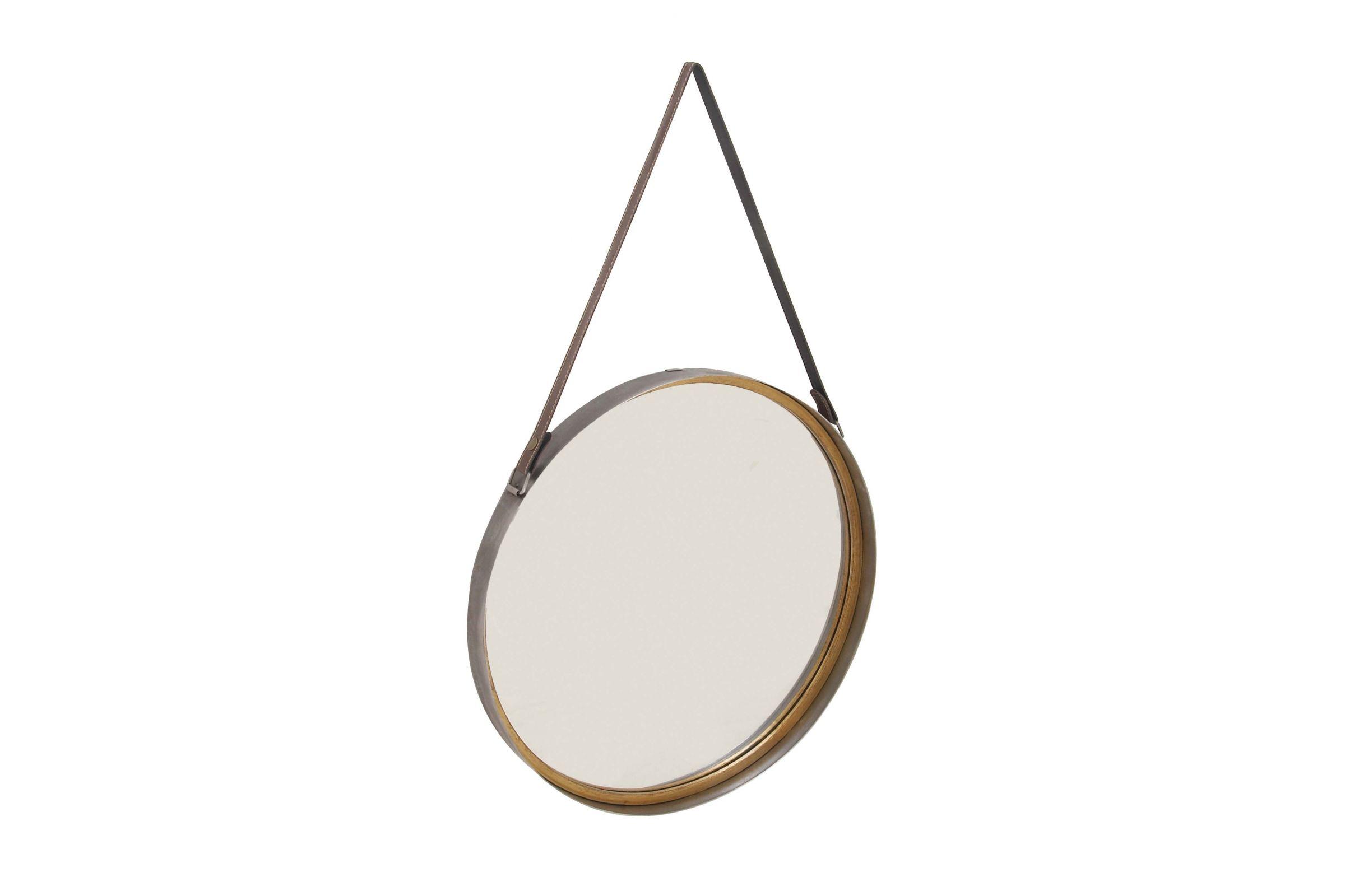 Modern Reflections Round Hanging Wall Mirror By Uma At Gardner White