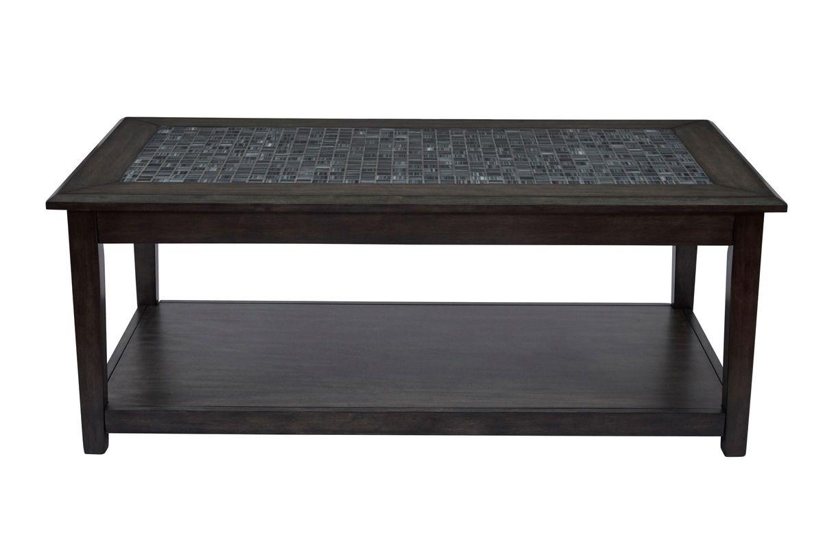 Grey Mosaic Cocktail Table from Gardner-White Furniture