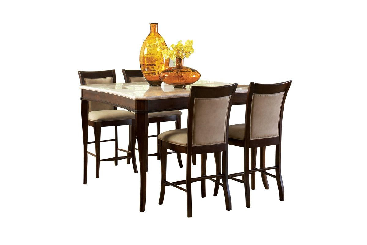 Marseille Gathering Table + 4 Stools from Gardner-White Furniture