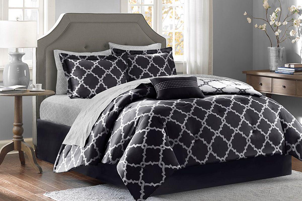 Merritt 9-Piece Queen Reversible Comforter Set from Gardner-White Furniture