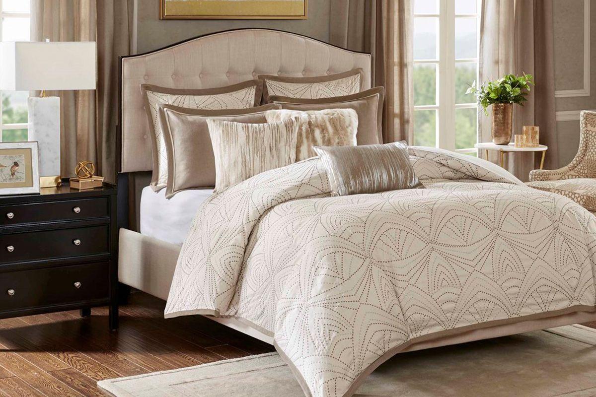 Glamorous 9 Piece King Comforter Set At Gardner White